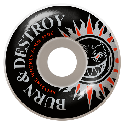 WHEELS / SPITFIRE / BURN & DESTROY - 99A - 58MM - (set of four)