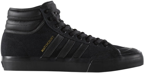 FOOTWEAR / adidas / MATCHCOURT HIGH RX2 - BLACK/BLACK/GOLD METALLIC
