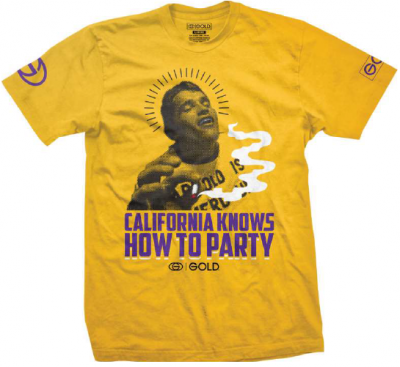 T-SHIRTS / GOLD / CALI PARTY - YELLOW