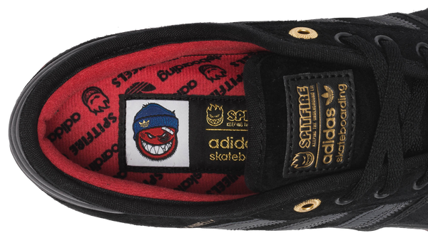 FOOTWEAR / adidas / SEELEY ADV - CORE BLACK/CARBON/COLLEGIATE RED (SPITFIRE)