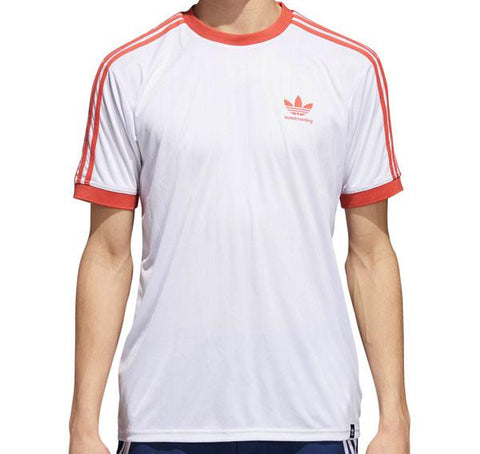 T-SHIRTS / ADIDAS / CLIMA CLUB JERSEY - WHITE/TRACE SCARLET