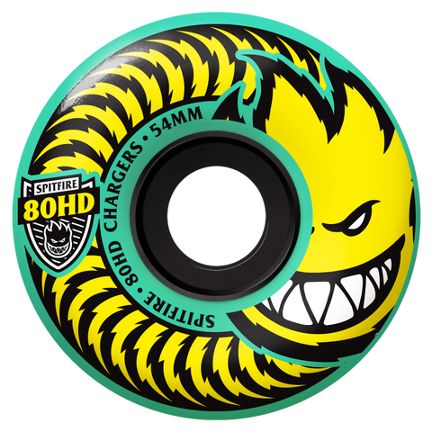 WHEELS / SPITFIRE / 80HD CHARGERS - TEAL - 80A -  CLASSIC SHAPE - 56MM - (set of four) (WHEELS ALWAYS SHIP FREE)