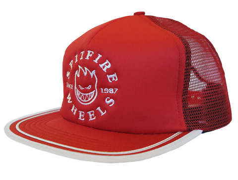 HATS / SPITFIRE / CLASSIC BIGHEAD TRUCKER - RED/WHITE