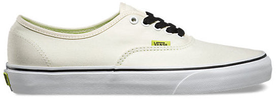 FOOTWEAR / VANS / AUTHENTIC - CLASSIC WHITE/LIME PUNCH (POP)