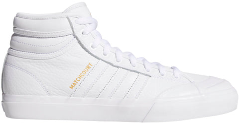 FOOTWEAR / adidas / MATCHCOURT HIGH RX2 - WHITE/WHITE/GOLD METALLIC
