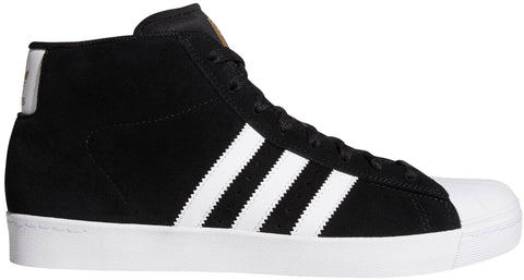 FOOTWEAR / adidas / PRO MODEL (SUPERSTAR) VULC ADV - CORE BLACK/WHITE/GOLD METALLIC