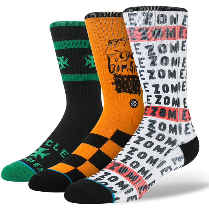 SOCKS / STANCE / CYCLE ZOMBIES - WHITE