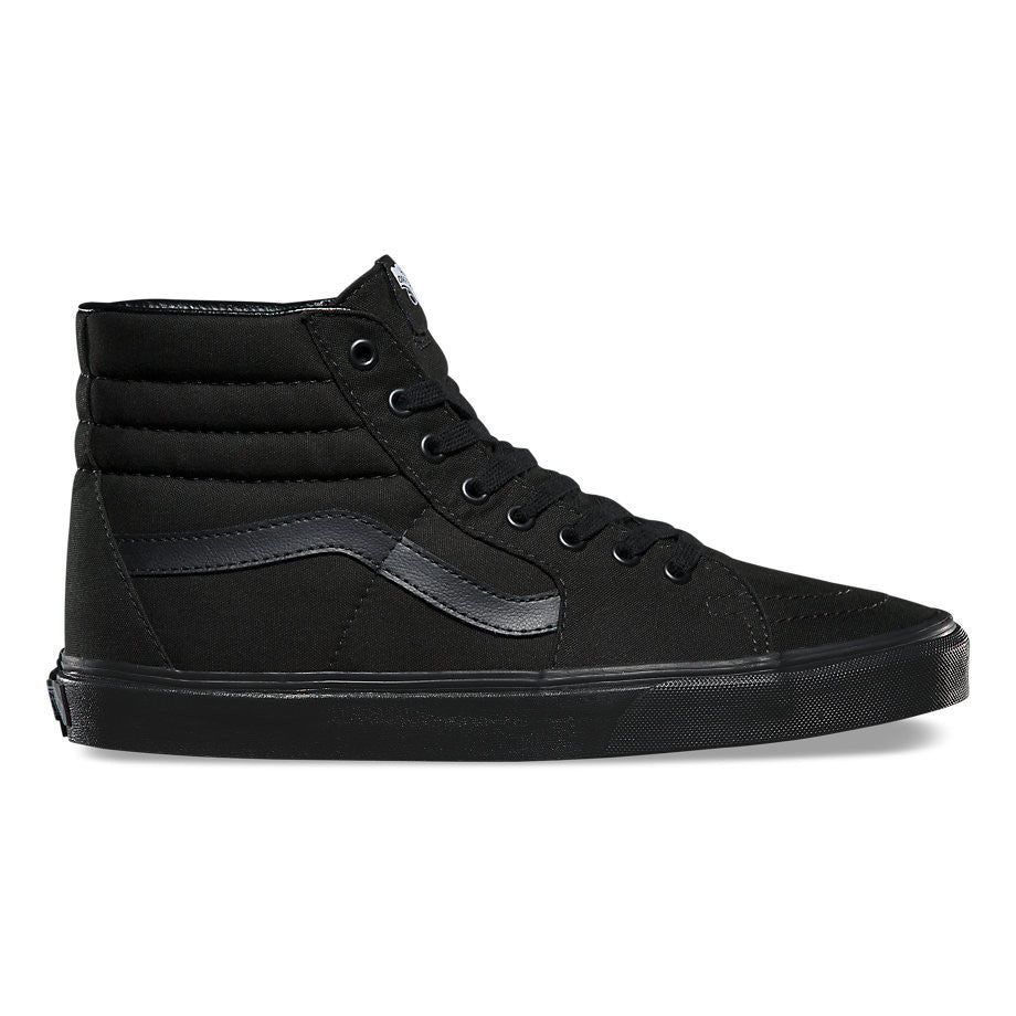 FOOTWEAR / VANS / SK8-HI - BLACK/BLACK/BLACK (CANVAS)