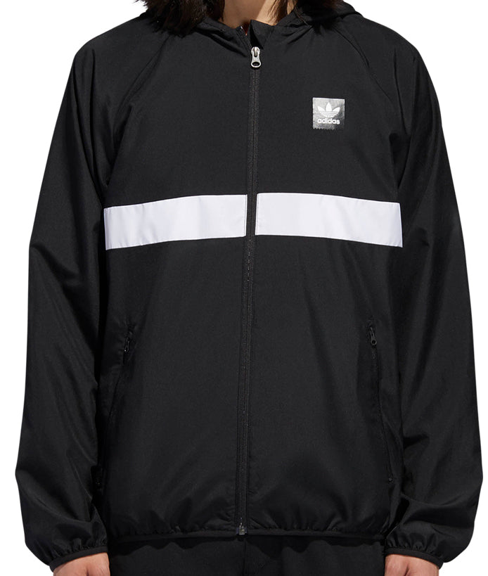 JACKETS / ADIDAS / BLACKBIRD PACKABLE WIND JACKET - BLACK/WHITE