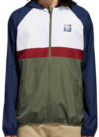 JACKETS / ADIDAS / BLACKBIRD PACKABLE WIND JACKET - NAVY/WHITE/GREEN