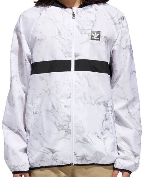 JACKETS / ADIDAS / BLACKBIRD PACKABLE WIND JACKET - MARBLE - WHITE/GREY/BLACK