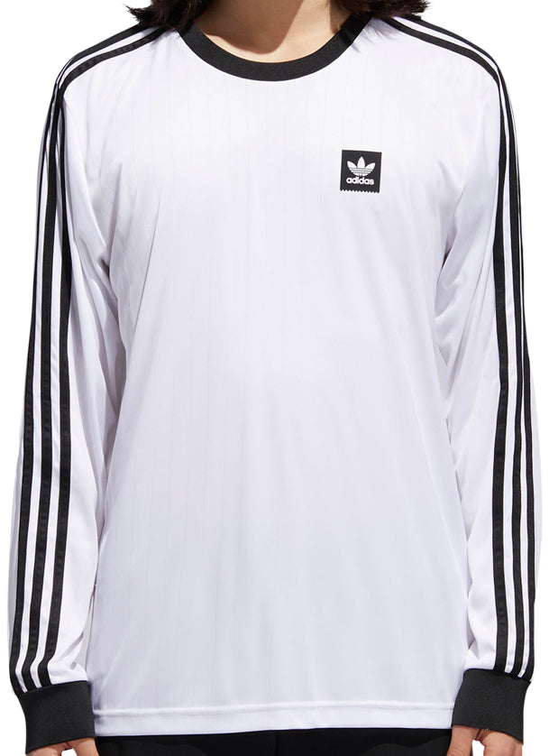 LONG SLEEVE T-SHIRTS   ADIDAS   CLUB JERSEY LONG SLEEVE - WHITE BLACK –  Exodus Skate Shop a154d983d