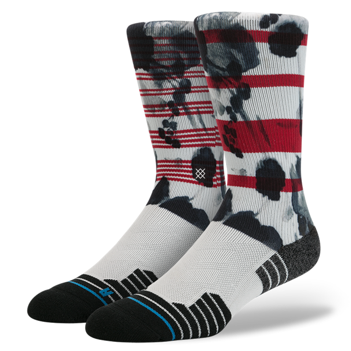 SOCKS / STANCE / ESCAPADE - RED (FUSION ATHLETIC)