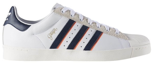 FOOTWEAR / adidas / SUPERSTAR VULC ADV - WHITE/COLLEGIATE NAVY/TROPIC MELON (ALLTIMERS)