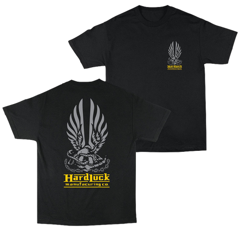 T-SHIRTS / HARD LUCK / HARD BOND - BLACK/GREY/YELLOW