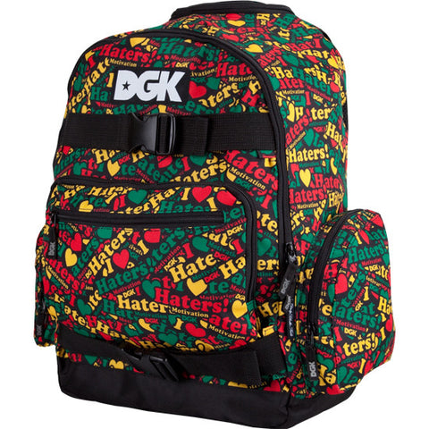 BACKPACKS / DGK / HATERS COLLAGE - RASTA