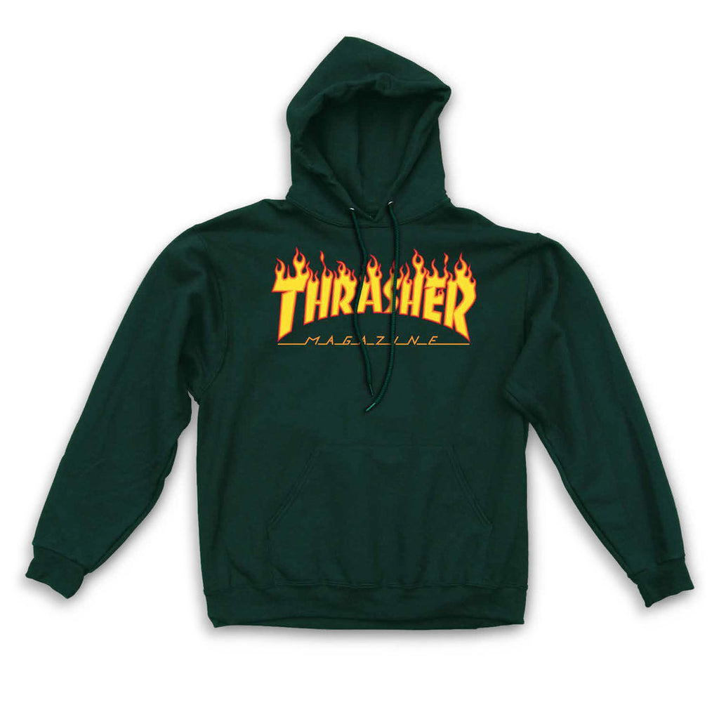 41e5100b SWEATSHIRTS / THRASHER / FLAME LOGO - FOREST GREEN – Exodus Skate Shop