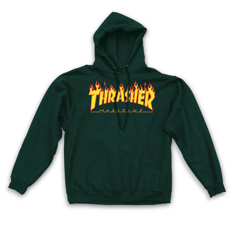 SWEATSHIRTS / THRASHER / FLAME LOGO - FOREST GREEN