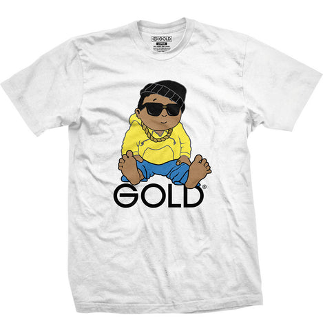 T-SHIRTS / GOLD / LIL' DUNE - WHITE