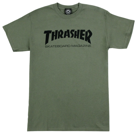 T-SHIRTS / THRASHER / SKATE MAG - ARMY GREEN