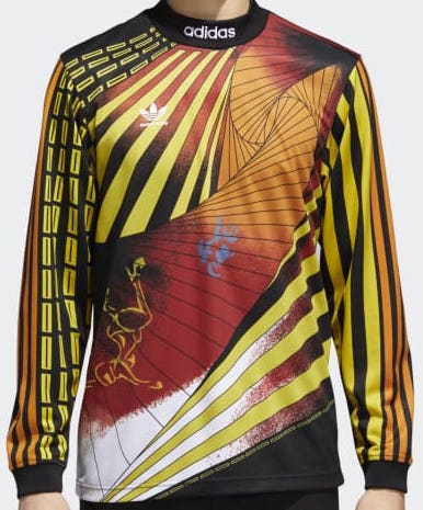 T-SHIRTS / ADIDAS / NA-KEL JERSEY - BLACK/YELLOW/BRIGHT ORANGE/RED
