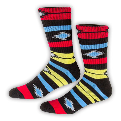 SOCKS / PSOCKADELIC / NATIVE STRIPE - GLOWS IN THE DARK - BLACK LIGHT