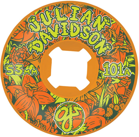 WHEELS / OJ / FLORAL - JULIAN DAVIDSON - EZ EDGE - INSANEATHANE - 101A - 53MM - (set of four)