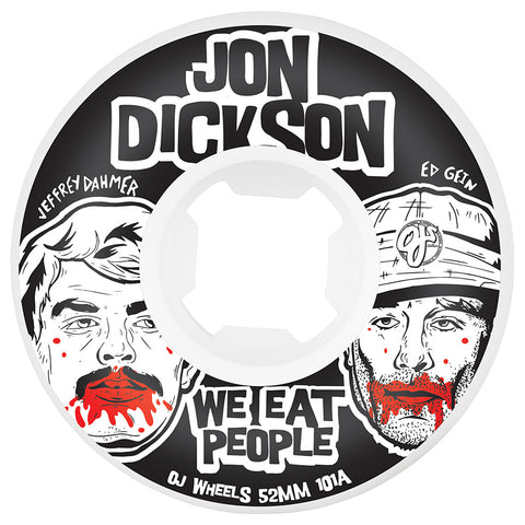 WHEELS / OJ / INSANEATHANE WE EAT PEOPLE / JON DICKSON - 101A - 52MM - (set of four)