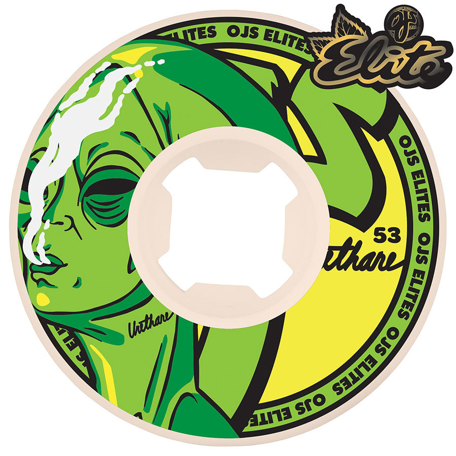 WHEELS / OJ / ELITES / ALIEN TOKE - 101A - 53MM - (set of four)