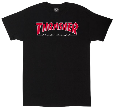 T-SHIRTS / THRASHER / OUTLINED - BLACK