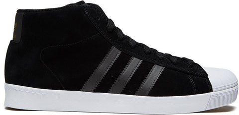 FOOTWEAR / adidas / PRO MODEL (SUPERSTAR) VULC ADV - CORE BLACK/UTILITY BLACK/GOLD METALLIC