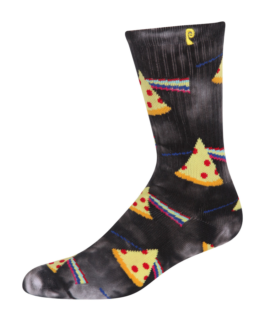 SOCKS / PSOCKADELIC / DARK SIDE OF THE PIZZA - BLACK TIE DYE