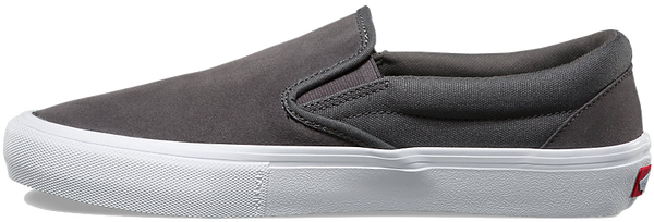 FOOTWEAR / VANS / SLIP-ON PRO - PEWTER/WHITE (RUBBER)