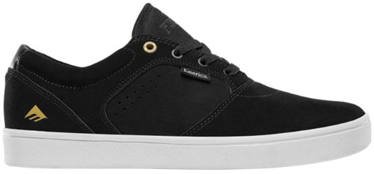 FOOTWEAR / EMERICA / FIGGY DOSE - BLACK/WHITE/GOLD