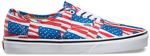 FOOTWEAR / VANS / AUTHENTIC - RED/TRUE WHITE (FREE FLAG)