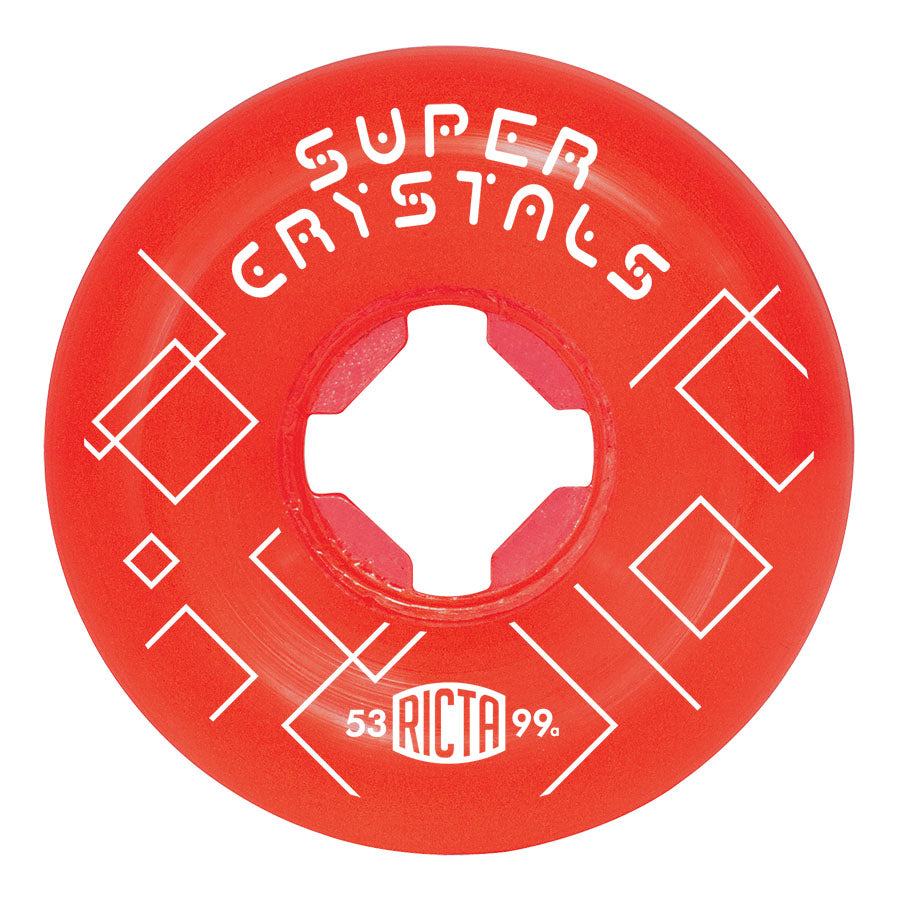 WHEELS / RICTA / SUPER CRYSTAL - RED - 99A - 53MM - (set of four)