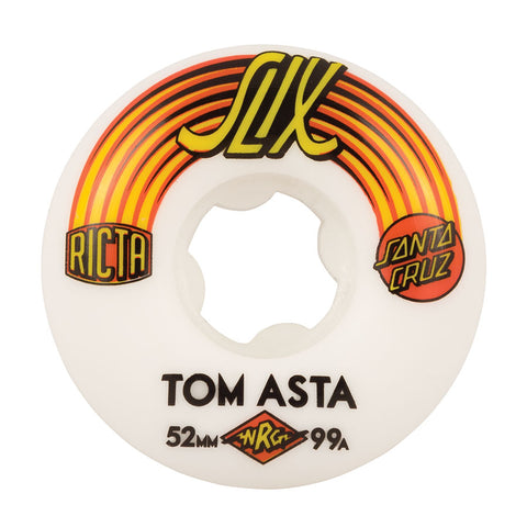 WHEELS / RICTA / SLIX / TOM ASTA PRO - RED/YELLOW - 52MM (SANTA CRUZ)