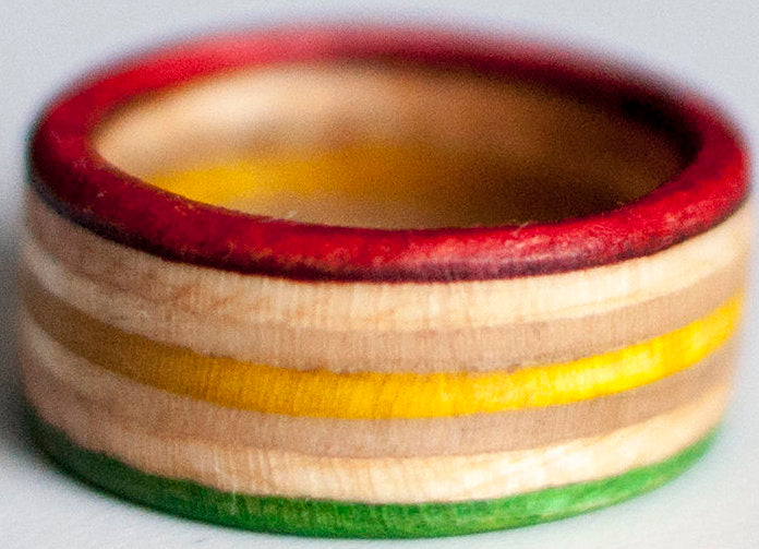 RINGS / RECYCLED RING / 9 - RASTA