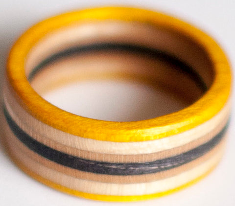 RINGS / RECYCLED RING / 8 - YELLOW/BLACK