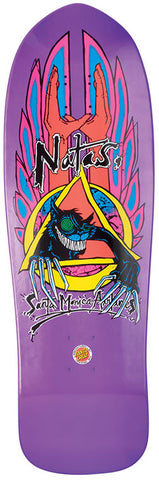 DECKS / SANTA CRUZ / (REISSUE) EVIL CAT / NATAS KAUPAS - METALLIC PURPLE