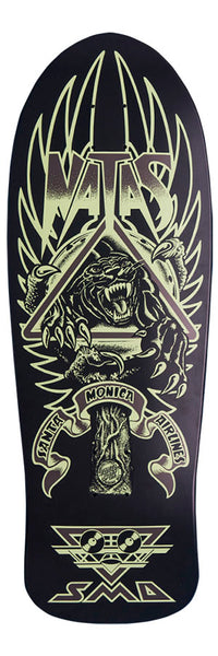 DECKS / SANTA CRUZ / (REISSUE) PANTHER 3 / NATAS KAUPAS - BLACK/GLOW