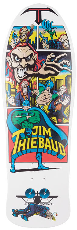 DECKS / SANTA CRUZ / (REISSUE) THEIBAUD JOKER/ JIM THIEBAUD - WHITE