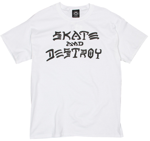 T-SHIRTS / THRASHER / SKATE & DESTROY - WHITE