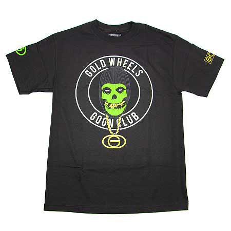 T-SHIRTS / GOLD / SKULL CLUB - BLACK