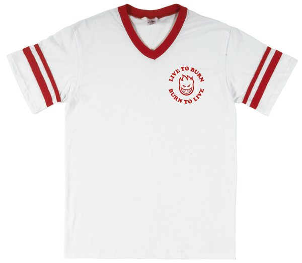 T-SHIRTS / SPITFIRE / LIVE TO BURN JERSEY - WHITE/RED