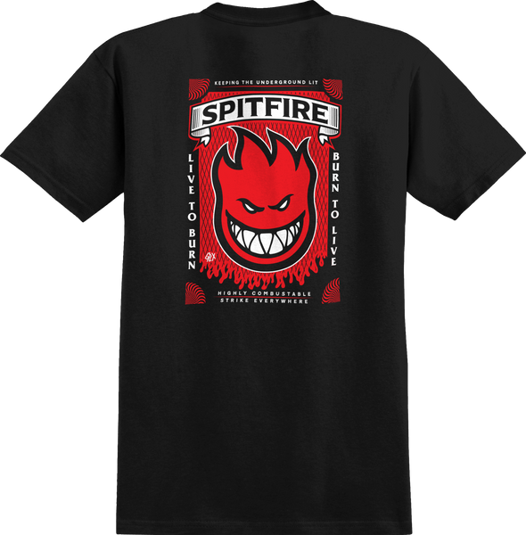 T-SHIRTS / SPITFIRE / SF x GLX STRIKE EVERYWHERE - BLACK