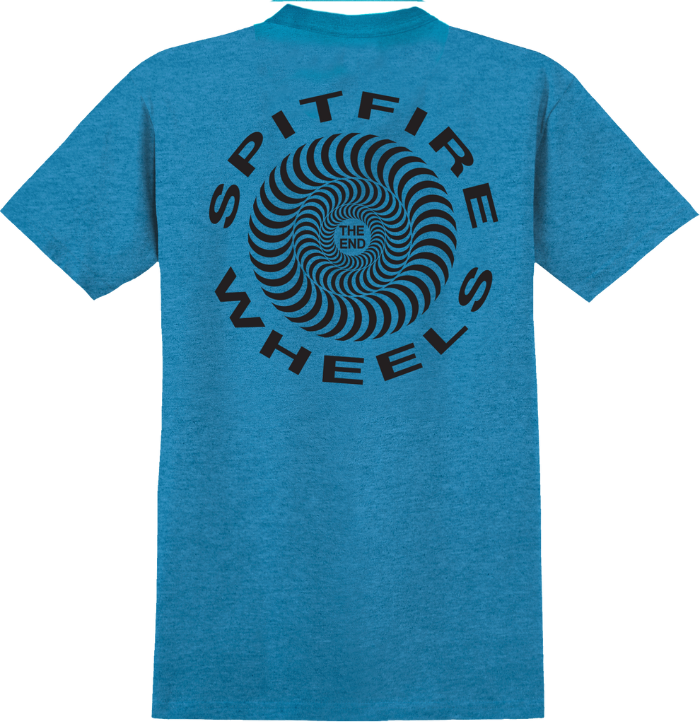 T-SHIRTS / SPITFIRE / RETRO CLASSIC SWIRL - HEATHER TURQUOISE