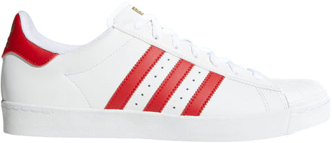 FOOTWEAR / adidas / SUPERSTAR VULC ADV - WHITE/SCARLET/GOLD
