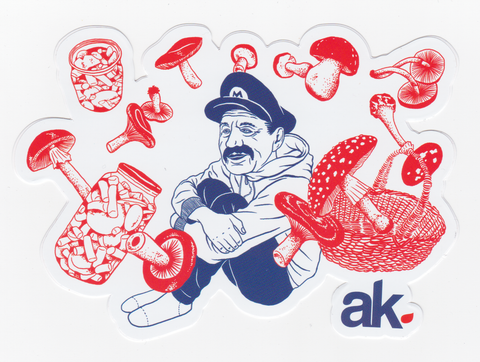 STICKERS / AKOMPLICE / 1UP (FREE SHIPPING ITEM)
