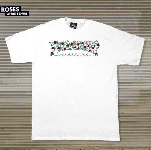 T-SHIRTS / THRASHER / ROSES -  WHITE